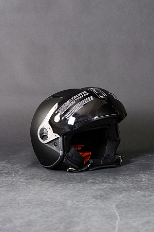 H730-5 PU Leather Jet mc hjälm
