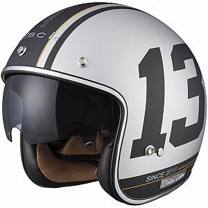 Limited Edition Black 13 Matt Silver  5180-3003 mc hjälm