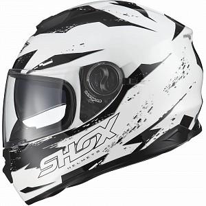 SHOX ALT WHITE BLACK SOLVISIR 13855-5503 MC HJÄLM