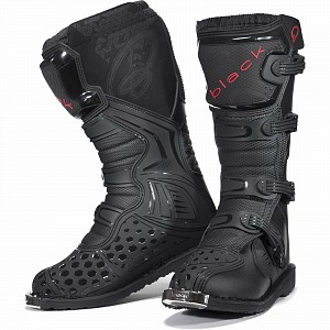 BLK MX Enigma Black Motocross Boots (CE Level 2 Certified) 5225 cross stövlar